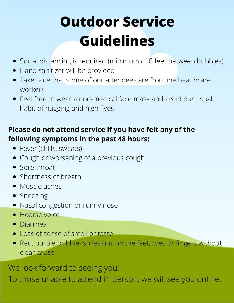 Outdoor Service Guidelines